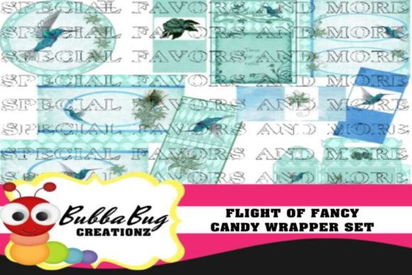 Flight of Fancy Candy Wrapper Set Graphic Crafts By BUBBABUG