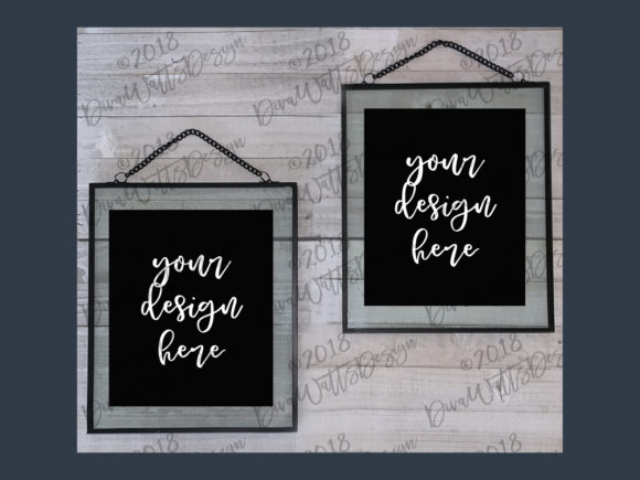 Floating Frames Mockup in Black Graphic Product Mockups By Diva Watts Designs