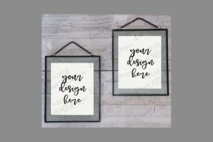 Floating Frames White Duo Graphic Product Mockups By Diva Watts Designs