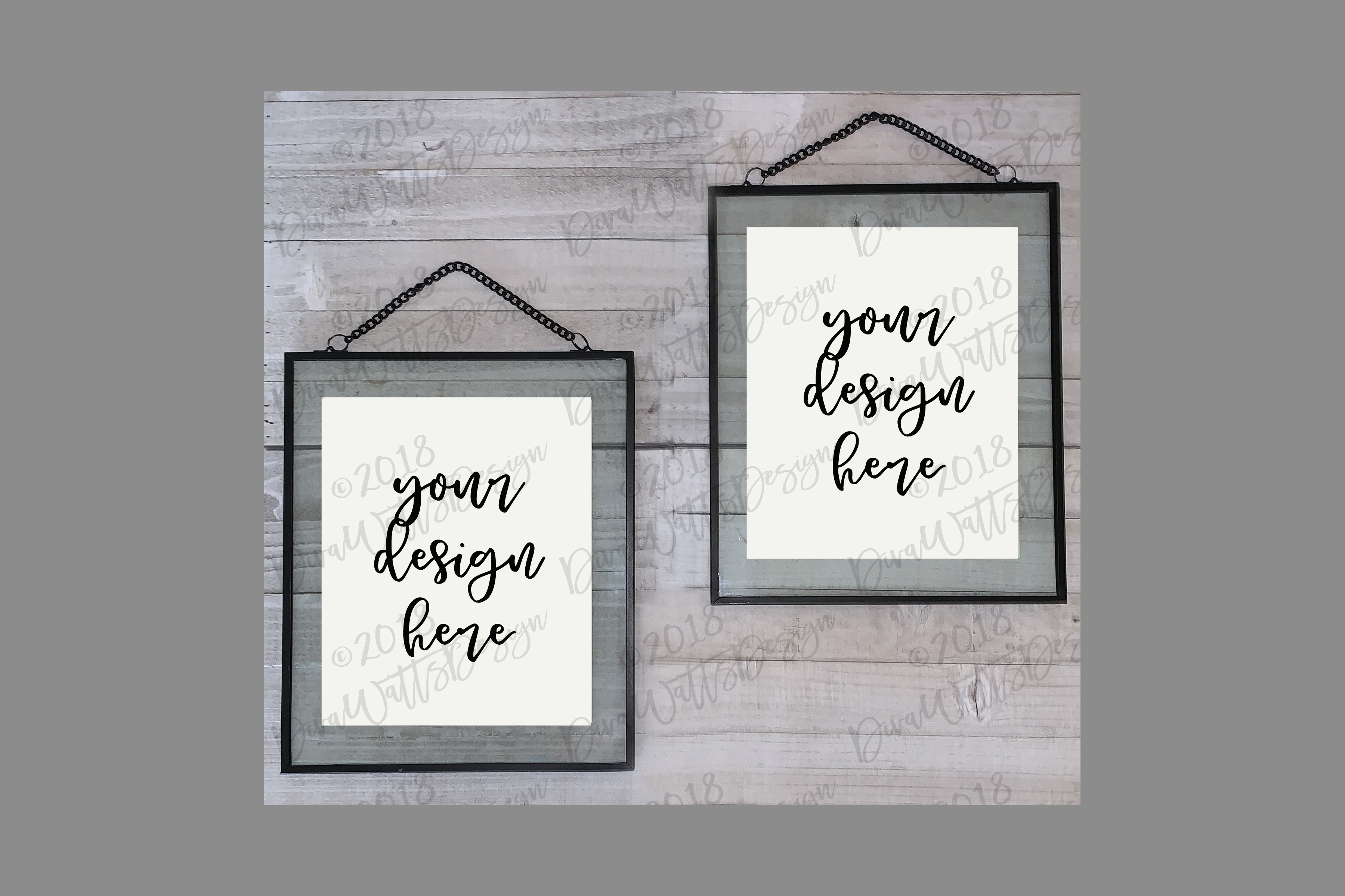 Floating Frames White Duo Graphic By Diva Watts Designs Creative Fabrica