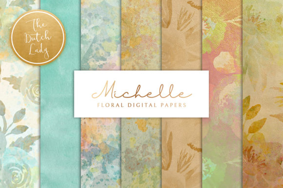 Print on Demand: Floral Background & Paper - Michelle Graphic Patterns By daphnepopuliers