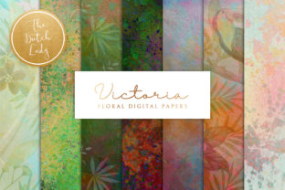 Print on Demand: Floral Background & Paper - Victoria Graphic Patterns By daphnepopuliers