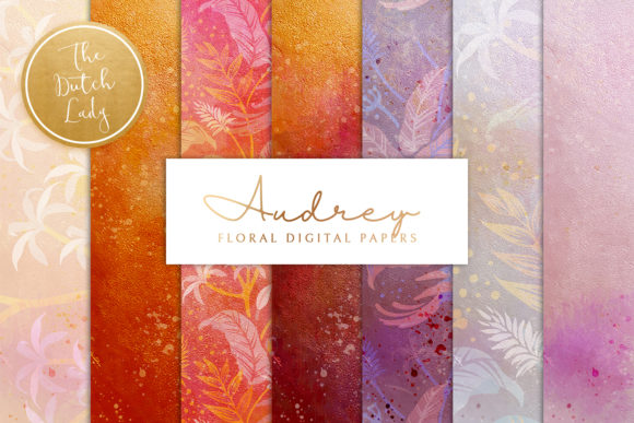 Print on Demand: Floral Backgrounds & Papers Audrey Graphic Patterns By daphnepopuliers