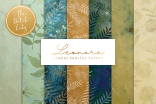 Print on Demand: Floral Backgrounds & Papers Leonora Graphic Patterns By daphnepopuliers