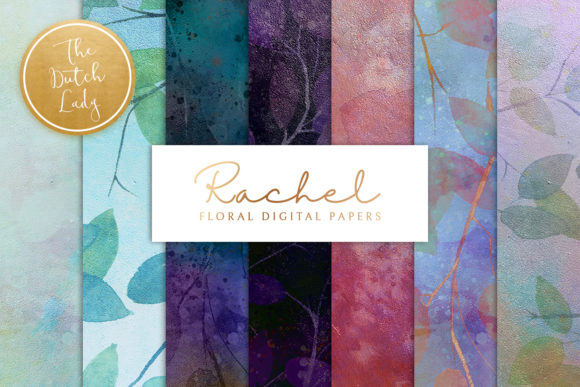 Print on Demand: Floral Backgrounds & Papers Rachel Graphic Patterns By daphnepopuliers
