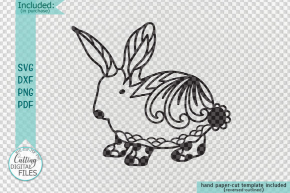 Download Free Floral Cute Easter Bunny Cut Template Graphic By Cornelia SVG Cut Files