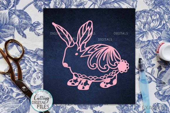 Download Free Floral Cute Easter Bunny Cut Template Graphic By Cornelia for Cricut Explore, Silhouette and other cutting machines.