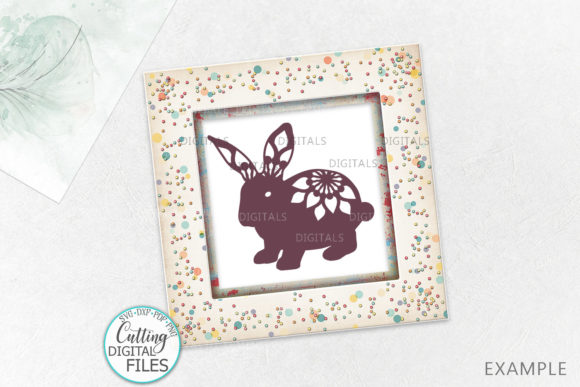 Floral Easter Bunnies Paper Laser Cut Graphic Crafts By Cornelia - Image 3
