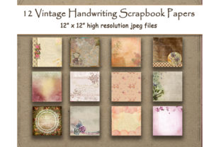 Download Free Floral Handwriting Digital Paper Vintage Graphic By for Cricut Explore, Silhouette and other cutting machines.