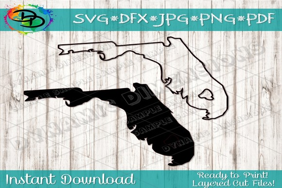 Download Free Florida Vector Clipart Graphic By Dynamicdimensions Creative for Cricut Explore, Silhouette and other cutting machines.