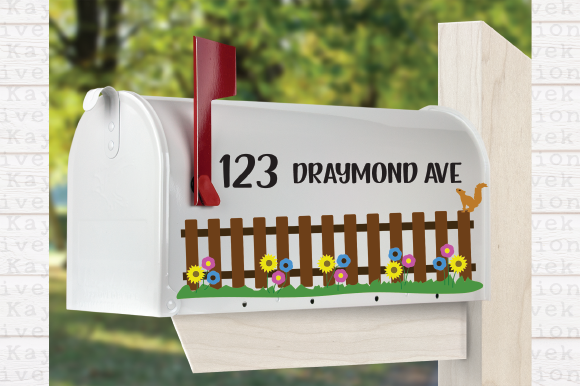 Download Free Flower Fence Svg Mailbox Svg Graphic By Kayla Griffin for Cricut Explore, Silhouette and other cutting machines.