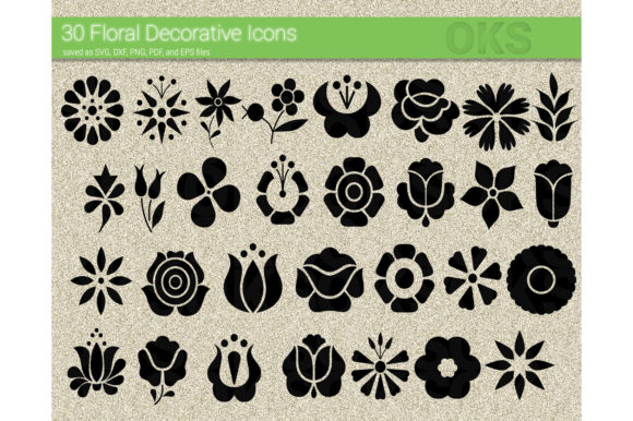 Download Free Flower Icon Floral Svg Vector Graphic By Crafteroks Creative for Cricut Explore, Silhouette and other cutting machines.