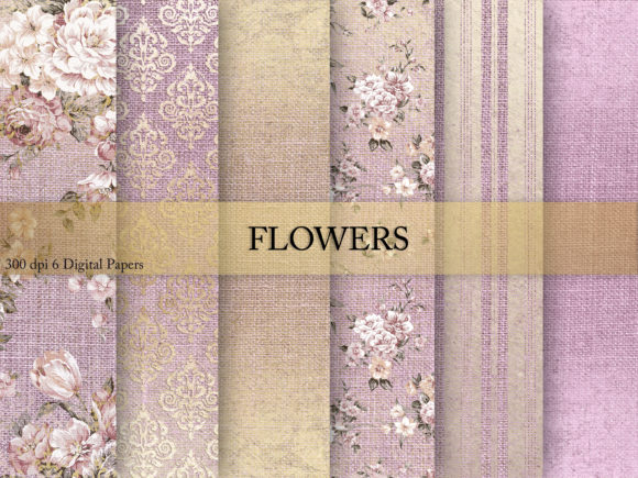 Print on Demand: Flowers & Digital Paper Graphic Textures By Creative Paper