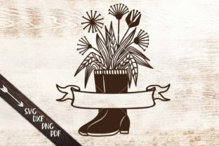 Download Free Flowers Wellies Rain Boots Monogram Svg Graphic By Cornelia for Cricut Explore, Silhouette and other cutting machines.