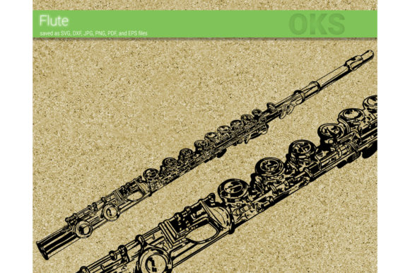 Download Free Flute Vector Graphic By Crafteroks Creative Fabrica for Cricut Explore, Silhouette and other cutting machines.