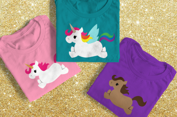 Flying Unicorn Jumping Horse Graphic Crafts By DesignedByGeeks