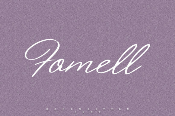 Print on Demand: Fomell Script & Handwritten Font By Katie Holland
