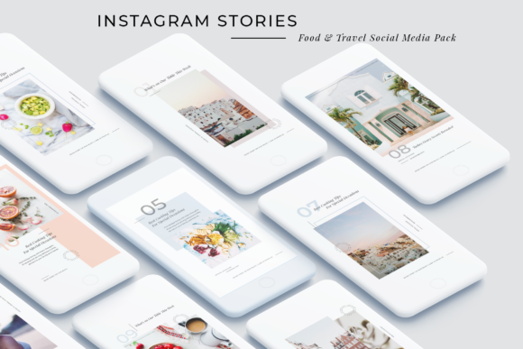 Print on Demand: Food & Travel Instagram Stories Pack Graphic Websites By SilverStag
