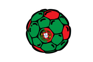 Football with Portuguese Flag Colors Craft Design By Creative Fabrica Crafts