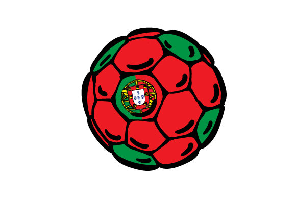Football with Portuguese Flag Colors Portugal Craft Cut File By Creative Fabrica Crafts