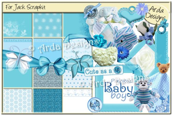 Print on Demand: For Jack Scrapkit Graphic Objects By Arda Designs