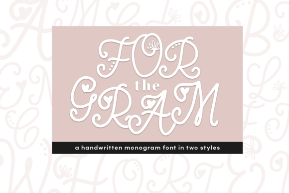 Print on Demand: For the Gram Display Font By KA Designs