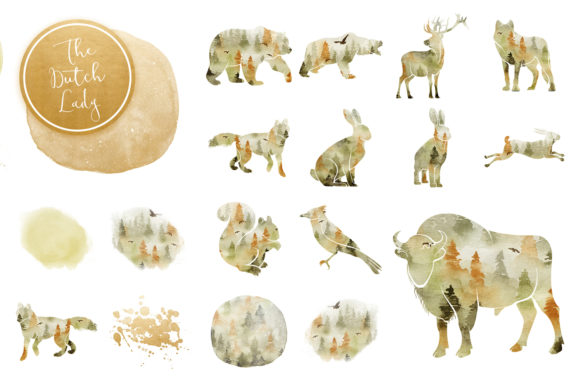 Print on Demand: Forest Animal Boho Autumn Clipart Graphic Illustrations By daphnepopuliers - Image 3