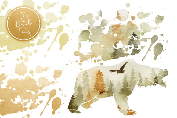 Print on Demand: Forest Animal Boho Autumn Clipart Graphic Illustrations By daphnepopuliers - Image 5