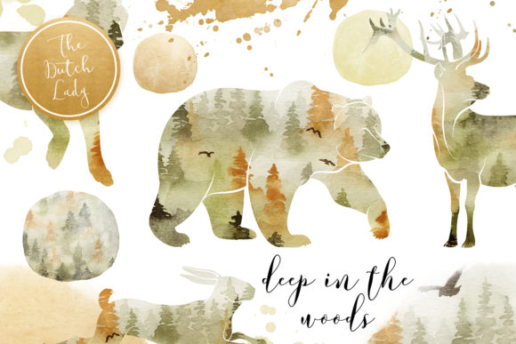 Print on Demand: Forest Animal Boho Autumn Clipart Graphic Illustrations By daphnepopuliers