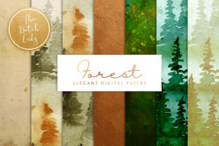 Print on Demand: Forest & Pine Wood Scrapbook Papers Graphic Patterns By daphnepopuliers