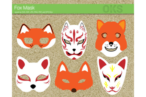 Download Free Fox Mask Svg Vector Graphic By Crafteroks Creative Fabrica for Cricut Explore, Silhouette and other cutting machines.
