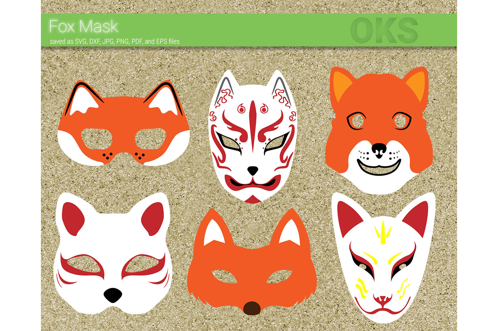 Download Free Fox Mask Vector Graphic By Crafteroks Creative Fabrica for Cricut Explore, Silhouette and other cutting machines.