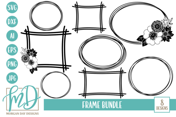 Print on Demand: Frame SVG Bundle Graphic Crafts By Morgan Day Designs