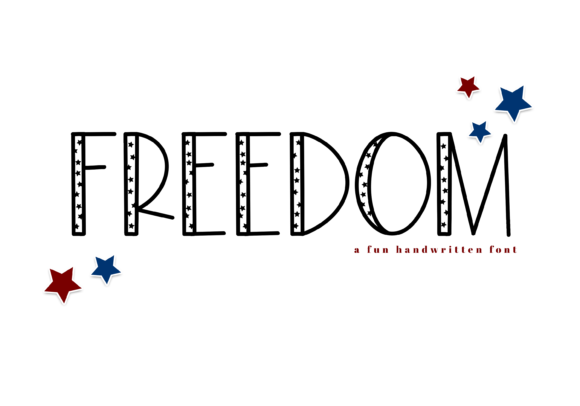 Print on Demand: Freedom Display Font By KA Designs - Image 1