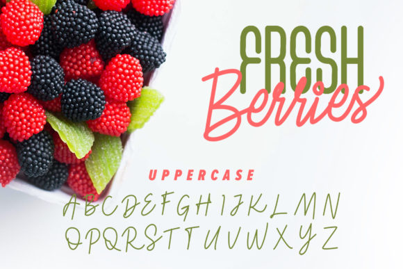 Fresh Berries Font By InspiraType Image 3