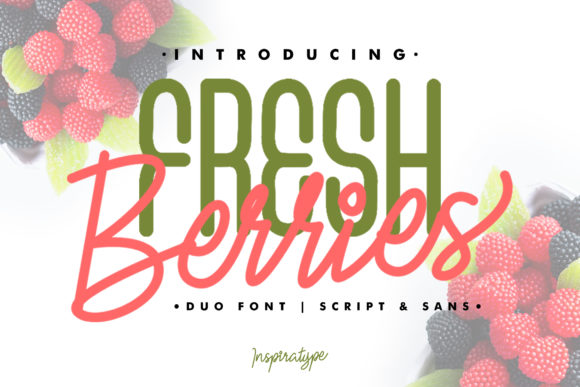 Print on Demand: Fresh Berries Script & Handwritten Font By InspiraType
