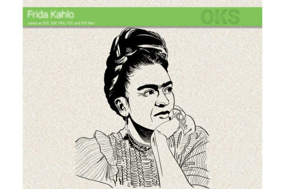 Print on Demand: Frida Kahlo Vector Graphic Crafts By CrafterOks