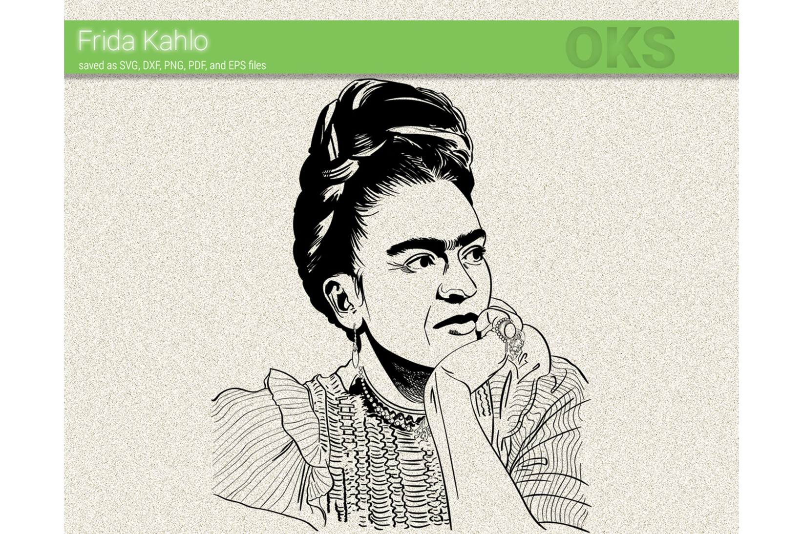 Download Free Frida Kahlo Vector Graphic By Crafteroks Creative Fabrica for Cricut Explore, Silhouette and other cutting machines.