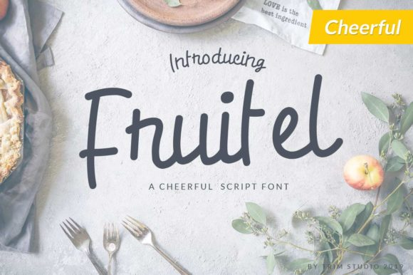 Print on Demand: Fruitel Display Font By Trim Studio