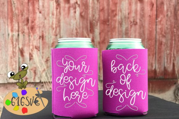 Fuchsia Can Cooler Mockup Graphic Product Mockups By 616SVG