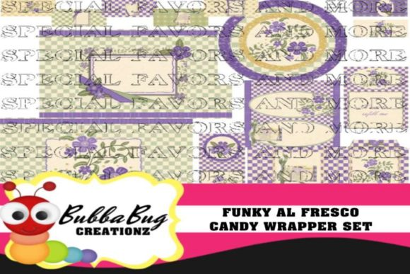 Funky Al Fresco  Candy Wrapper Set Graphic Crafts By BUBBABUG