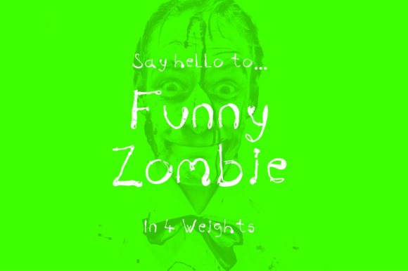 Print on Demand: Funny Zombie Script & Handwritten Font By GraphicsBam Fonts