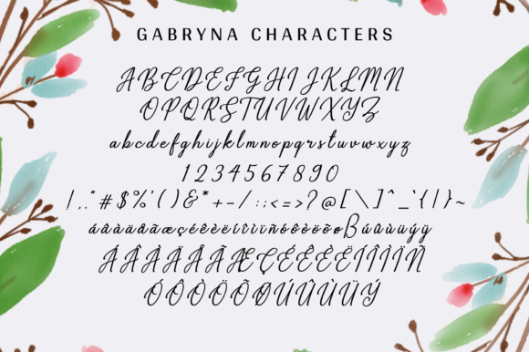 Print on Demand: Gabryna Script & Handwritten Font By Sibelumpagi Studio - Image 11