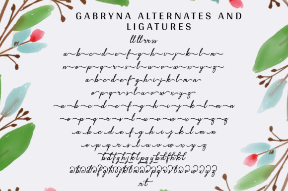 Print on Demand: Gabryna Script & Handwritten Font By Sibelumpagi Studio - Image 12
