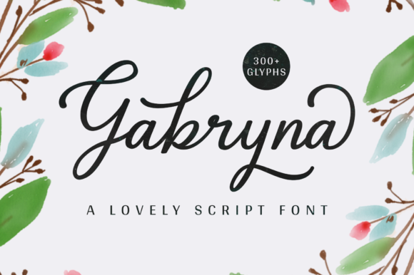 Print on Demand: Gabryna Script & Handwritten Font By Sibelumpagi Studio - Image 1