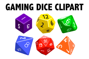 Print on Demand: Gaming Dice Clipart Graphic Illustrations By Mine Eyes Design