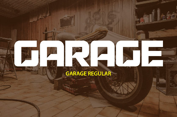 Print on Demand: Garage Display Font By da_only_aan
