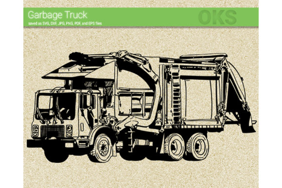 Download Free Garbage Truck Svg Vector Graphic By Crafteroks Creative Fabrica for Cricut Explore, Silhouette and other cutting machines.