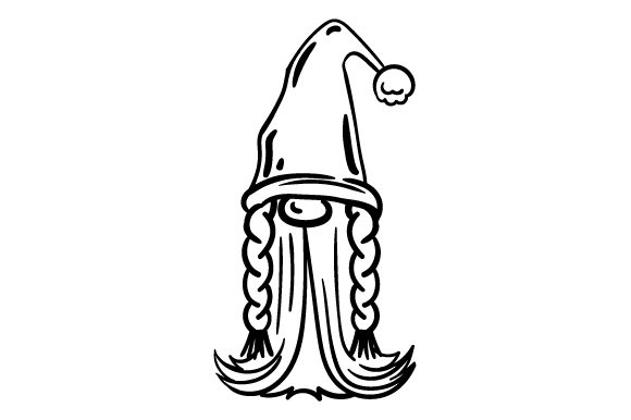 Garden Gnome Line Art Drawing Designs & Drawings Craft Cut File By Creative Fabrica Crafts