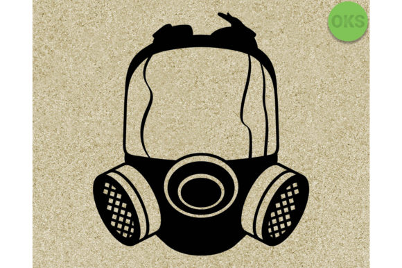 Download Free Gas Mask Vector Graphic By Crafteroks Creative Fabrica for Cricut Explore, Silhouette and other cutting machines.